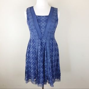 Sundance Navy Fit & Flare Cocktail Dress SZ 12